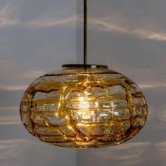 Pair of Amber Murano Glass Pendant Lamp 1960s - 1337049
