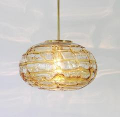 Pair of Amber Murano Glass Pendant Lamp 1960s - 1337055