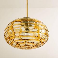 Pair of Amber Murano Glass Pendant Lamp 1960s - 1337060
