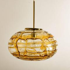 Pair of Amber Murano Glass Pendant Lamp 1960s - 1337061