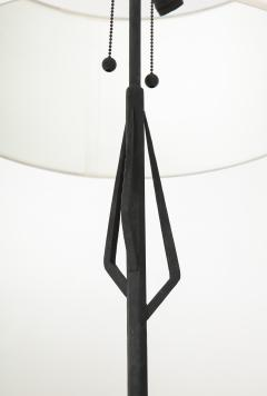 Pair of American Art Deco wrought iron floor lamps - 1145640
