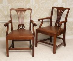 Pair of American Chippendale Revival Armchairs - 1866613