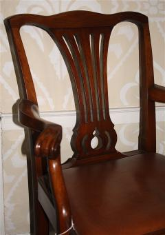 Pair of American Chippendale Revival Armchairs - 1866615