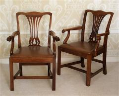 Pair of American Chippendale Revival Armchairs - 1866619
