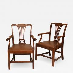Pair of American Chippendale Revival Armchairs - 1873625