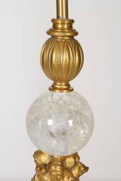 Pair of American Gilt Bronze and Rock Crystal Table Lamps Edward F Caldwell Co - 1160217