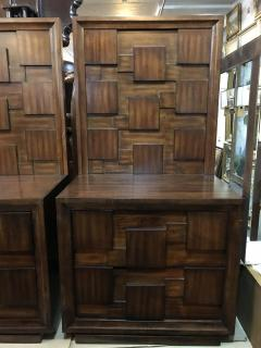 Pair of American Mid Century Mahogany Bedside Tables Commodes - 462853