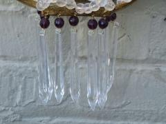 Pair of Amethyst Rock Crystal Sconces - 568204