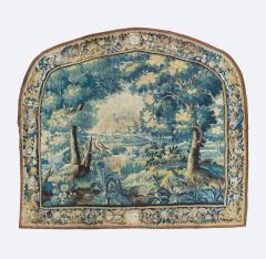 Pair of Antique 17th Century Flemish Verdure Landscape Tapestry with Birds - 1854637