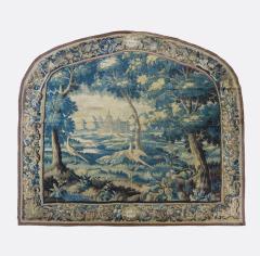 Pair of Antique 17th Century Flemish Verdure Landscape Tapestry with Birds - 1854638