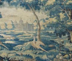 Pair of Antique 17th Century Flemish Verdure Landscape Tapestry with Birds - 1854640