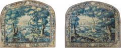 Pair of Antique 17th Century Flemish Verdure Landscape Tapestry with Birds - 1856069