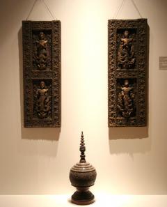 Pair of Antique Architectural Window Panels Thailand Asia - 88692