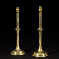 Pair of Antique Brass Table Lamps - 1214783
