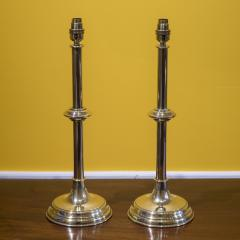 Pair of Antique Brass Table Lamps - 1214784