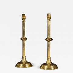 Pair of Antique Brass Table Lamps - 1214966