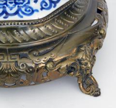 Pair of Antique Dutch Delftware Blue White Double baluster Lamps - 1614990