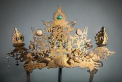 Pair of Antique Japanese Buddhist Temple Headdress and Necklace Ornaments - 1905782