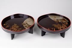 Pair of Antique Japanese Lacquer Trays - 1631381