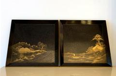 Pair of Antique Japanese Maki e Lacquer Trays - 1209163