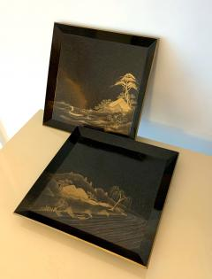 Pair of Antique Japanese Maki e Lacquer Trays - 1209164