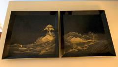 Pair of Antique Japanese Maki e Lacquer Trays - 1209165