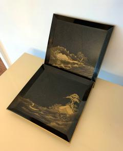 Pair of Antique Japanese Maki e Lacquer Trays - 1209167