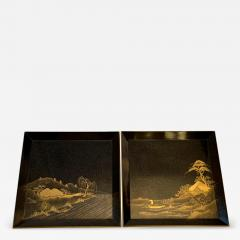 Pair of Antique Japanese Maki e Lacquer Trays - 1209452