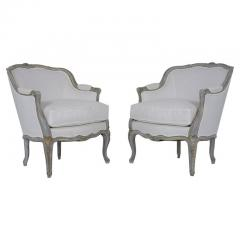 Pair of Antique Painted Louis XV Bergeres - 1545870