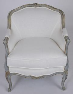 Pair of Antique Painted Louis XV Style Bergeres - 1252907