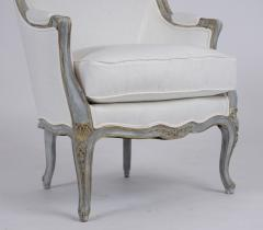 Pair of Antique Painted Louis XV Style Bergeres - 1252911