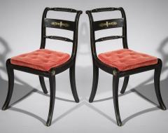 Pair of Antique Regency Painted Klismos Chairs - 1090319