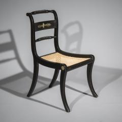 Pair of Antique Regency Painted Klismos Chairs - 1090321