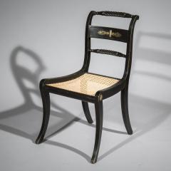 Pair of Antique Regency Painted Klismos Chairs - 1090322