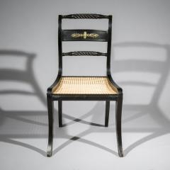 Pair of Antique Regency Painted Klismos Chairs - 1090323