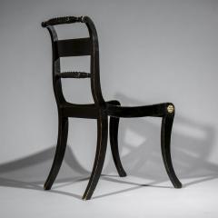 Pair of Antique Regency Painted Klismos Chairs - 1090326