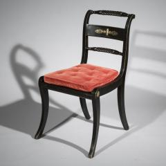 Pair of Antique Regency Painted Klismos Chairs - 1090329