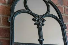 Pair of Arched Cast Iron Reclaimed Window Mirrors - 1969652