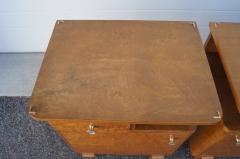 Pair of Art Deco Burl Wood Nightstands - 1161009