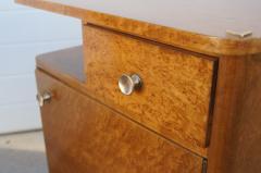 Pair of Art Deco Burl Wood Nightstands - 1161015