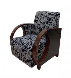 Pair of Art Deco Club Chairs Walnut Veneer France circa 1930 - 1122854