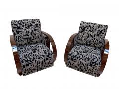 Pair of Art Deco Club Chairs Walnut Veneer France circa 1930 - 1122857