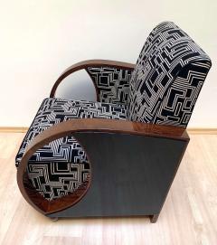 Pair of Art Deco Club Chairs Walnut Veneer France circa 1930 - 1122870