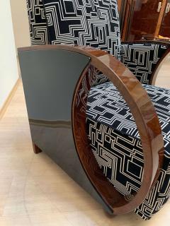 Pair of Art Deco Club Chairs Walnut Veneer France circa 1930 - 1122879
