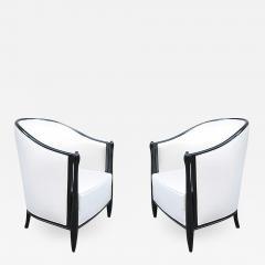 Pair of Art Deco Ebonized Bergeres - 1379854