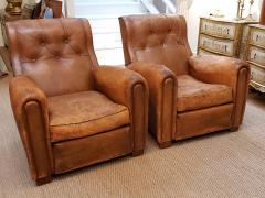 Pair of Art Deco Leather Chairs - 1796539
