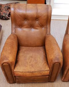 Pair of Art Deco Leather Chairs - 1796541