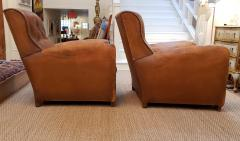 Pair of Art Deco Leather Chairs - 1796542