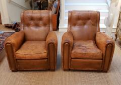 Pair of Art Deco Leather Chairs - 1796543
