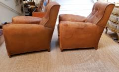 Pair of Art Deco Leather Chairs - 1796546